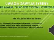 Testy systemu ostrzegania w Łodzi. Mogą wyć syreny, ale to nie alarm!