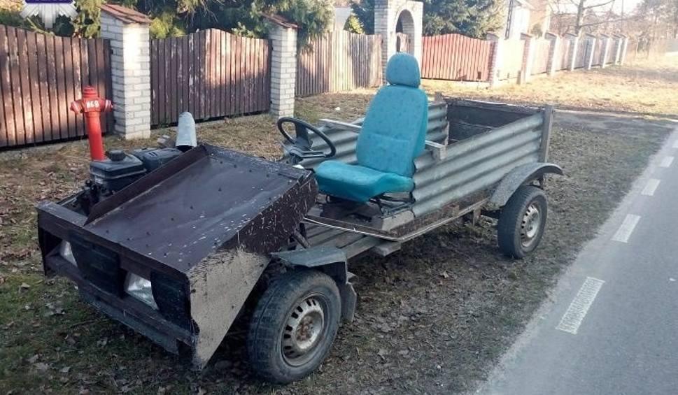 Film do artykułu: Pijany kierował pojazdem własnej konstrukcji. Miał blisko 3 promile