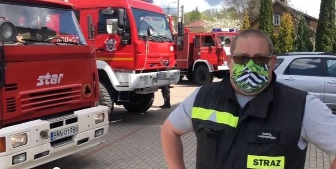W poniedziałek strażacy protestowali pod urzędem gminy. - Nie mieliśmy innego wyjścia - tłumaczy Karol Laskowski, komendant Ochotniczej Straży Pożarnej
