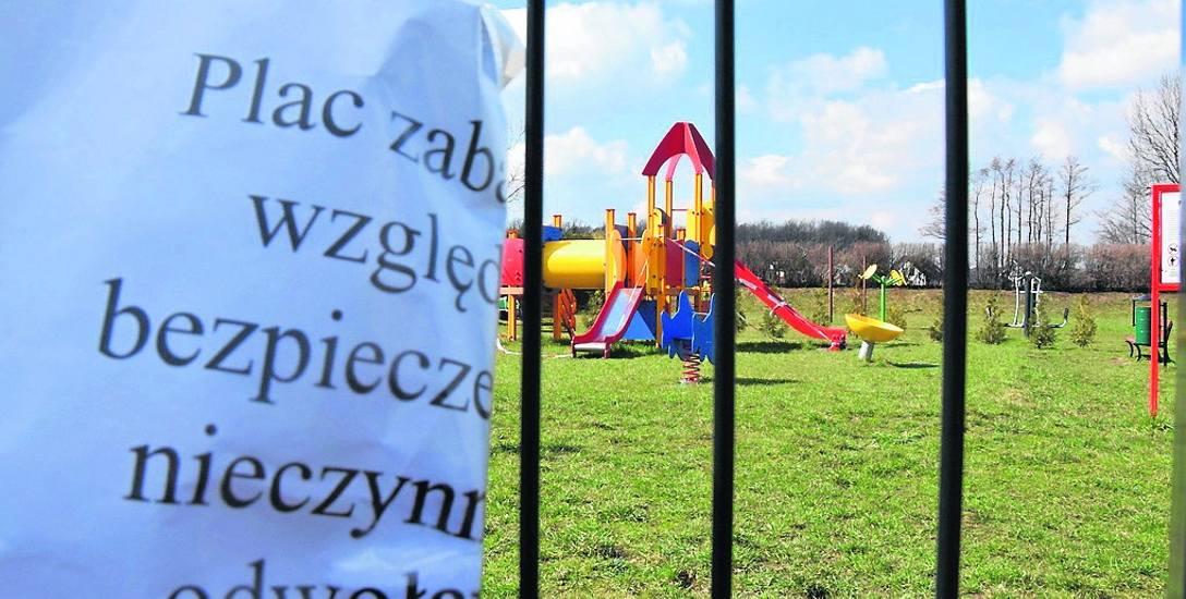 Plac zabaw w Bierach jest zamknięty ze względów bezpieczeństwa do odwołania
