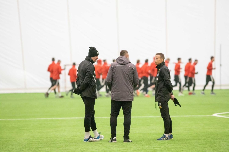 Trener Iwajło Petew i Jagiellonia na treningu (zdjęcia)