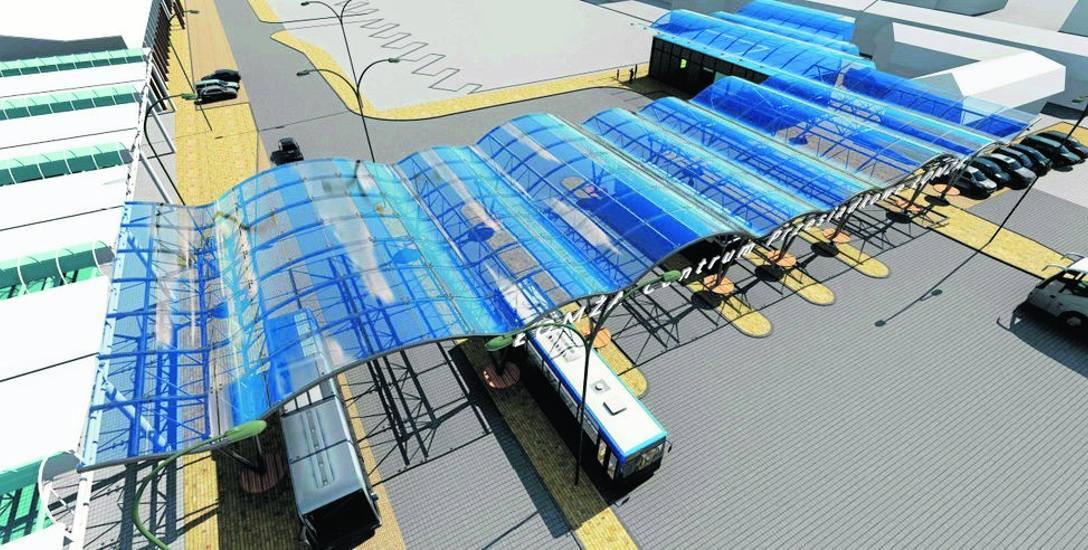 Wizualizacja nowego dworca PKS w Łomży