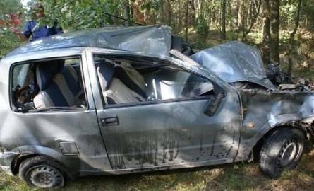 Samochód roztrzaskał się na prostej drodze. Pięć osób w szpitalu, w tym dwoje małych dzieci (zdjęcia)