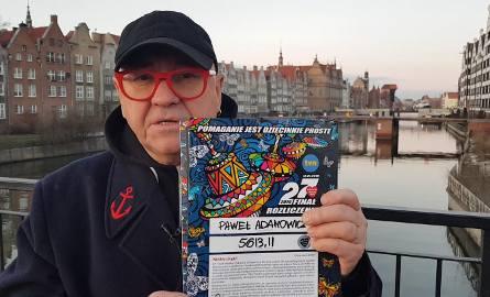 Jerzy Owsiak pokazuje rozliczenie Pawła Adamowicza jako wolontariusza WOŚP