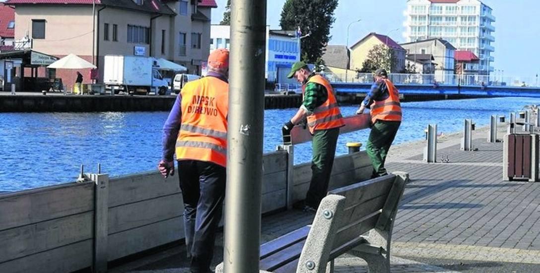 Instalacja zapór przeciwpowodziowych została już zamontowana. Będzie chronić Darłowo przed powodzią