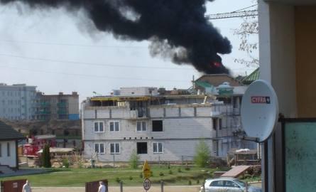 Ulica Pułaskiego: Pożar na budowie