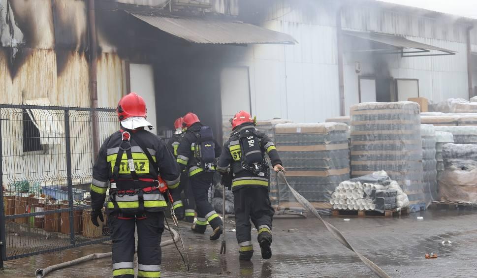 Film do artykułu: Pożar hali w Sosnowcu. Gęsty dym unosi się nad budynkiem ZDJĘCIA