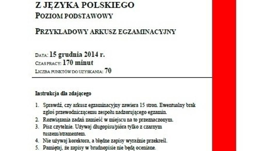 Próbna Matura 2015 Z Języka Polskiego Arkusz Cke