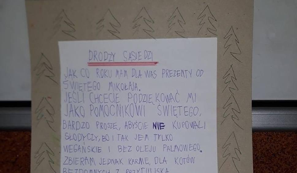 Film do artykułu: 7-letni Kacper z Inowrocławia napisał list do sąsiadów. Musicie go przeczytać