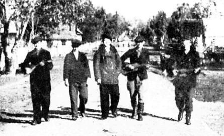 Muzykanci ze wsi Górne - zdjęcie z 1939 roku