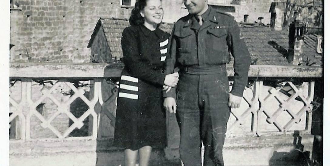 Z lewej: szczęśliwi Vera i Antoni, 1945 r.
