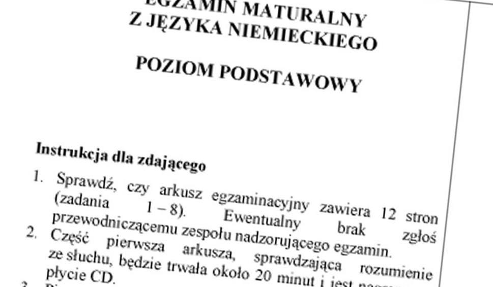 Matura 2011 Język Niemiecki Pytania Nowiny24pl