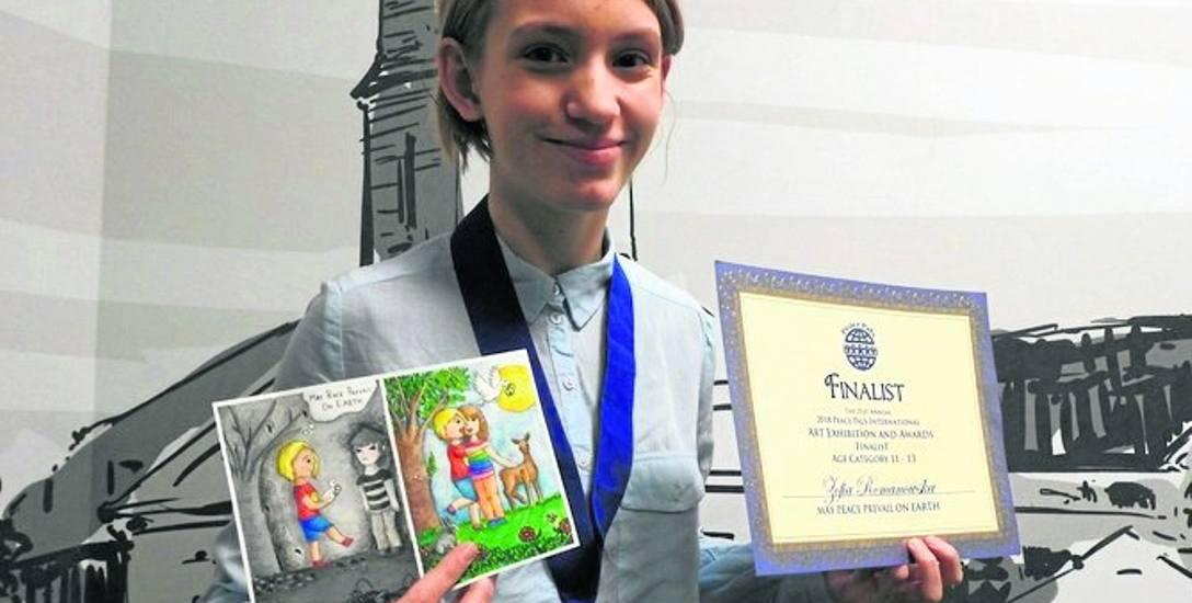 Zosia i jej kartka pokoju w finale światowego konkursu