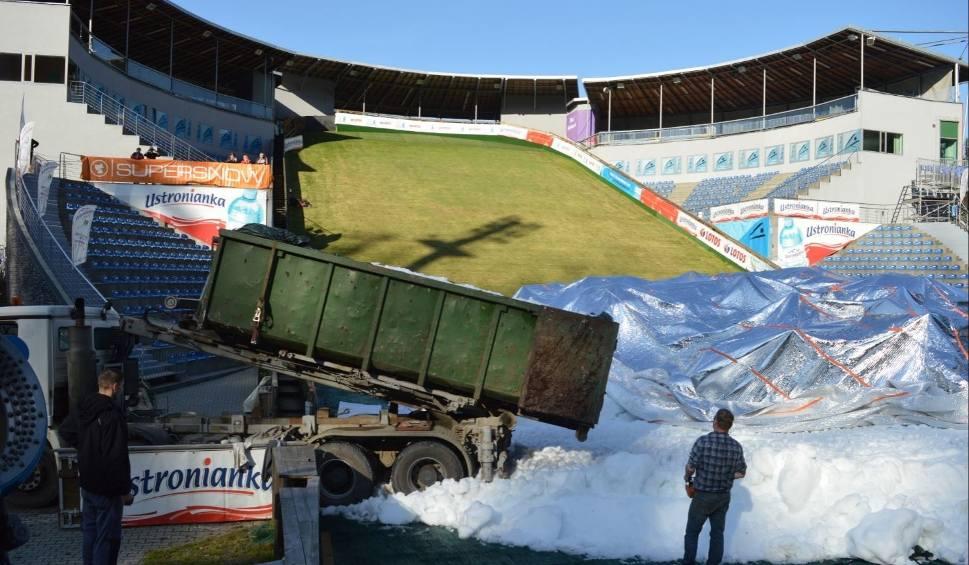 Film do artykułu: Na skoczni w Wiśle trwa już naśnieżanie, śnieg na Puchar Świata będzie na pewno