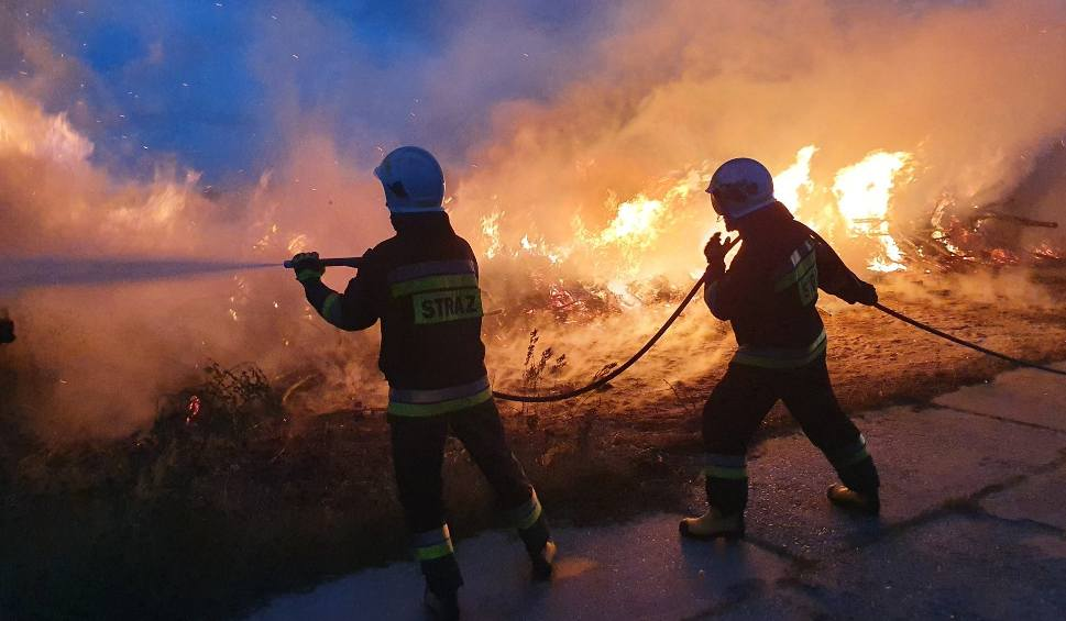 Film do artykułu: Strażacy w akcji - w Jeziórku płonęła sterta drewna (ZDJĘCIA)