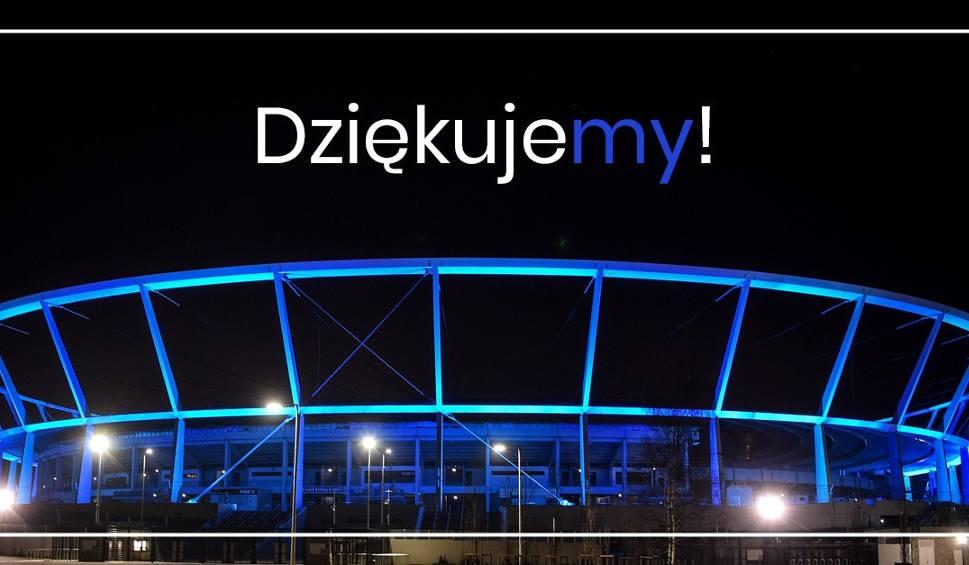 Film do artykułu: Stadion Śląski będzie podświetlony na niebiesko, aby podziękować lekarzom za ich trud