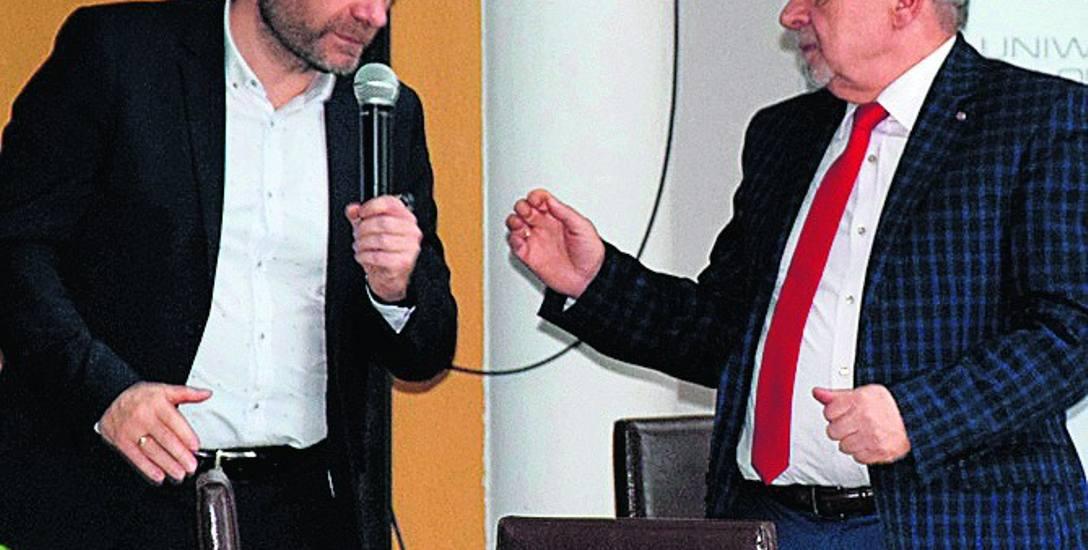 Wiceprezydent Dariusz Lesicki i prezes Lubuskiej Izby Budownictwa Zenon Bambrowicz dyskutowali o przyszłości miasta