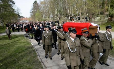 Pogrzeb Arkadiusza Rybickiego na gdańskim Cmentarzu Srebrzysko