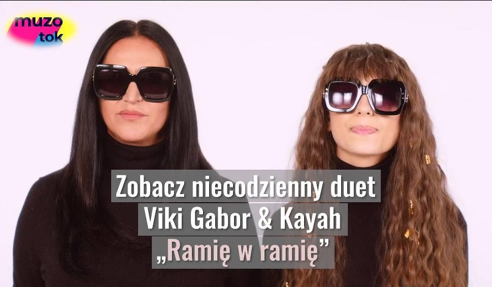 """Film do artykułu: Viki Gabor i Kayah: Razem w jednej piosence, która jest hitem. Po """"Superhero"""" przyszedł czas na """"Ramię w ramię"""" [WYWIAD Z VIKI i KAYAH]"""