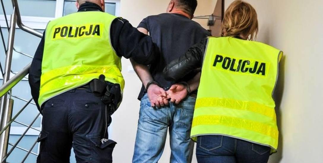 aresztowanie złodzieja samochodów
