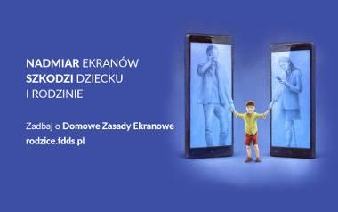 """Nadmiar ekranów szkodzi dziecku i rodzinie. Ruszyła kampania """"Domowe zasady ekranowe"""""""