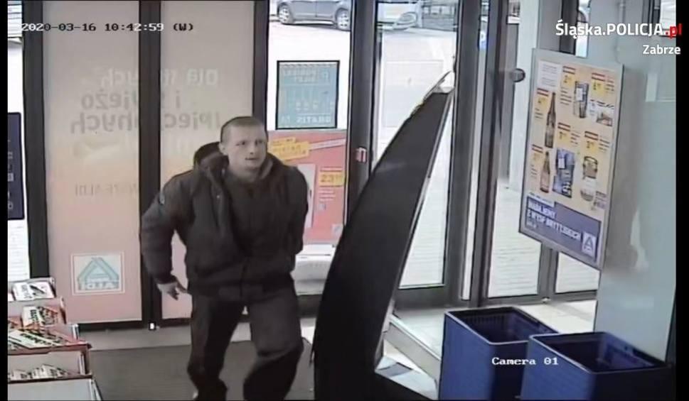 Film do artykułu: Policja w Zabrzu publikuje wizerunek mężczyzny podejrzanego o kradzież rozbójniczą. Rozpoznajesz go?