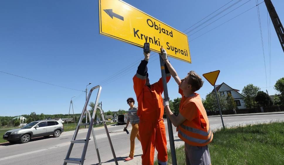 Film do artykułu: Budowa DW 676 na trasie Białystok - Supraśl. Zamknięcie drogi do Supraśla 8-13.05.2018 [TRASA OBJAZDU]