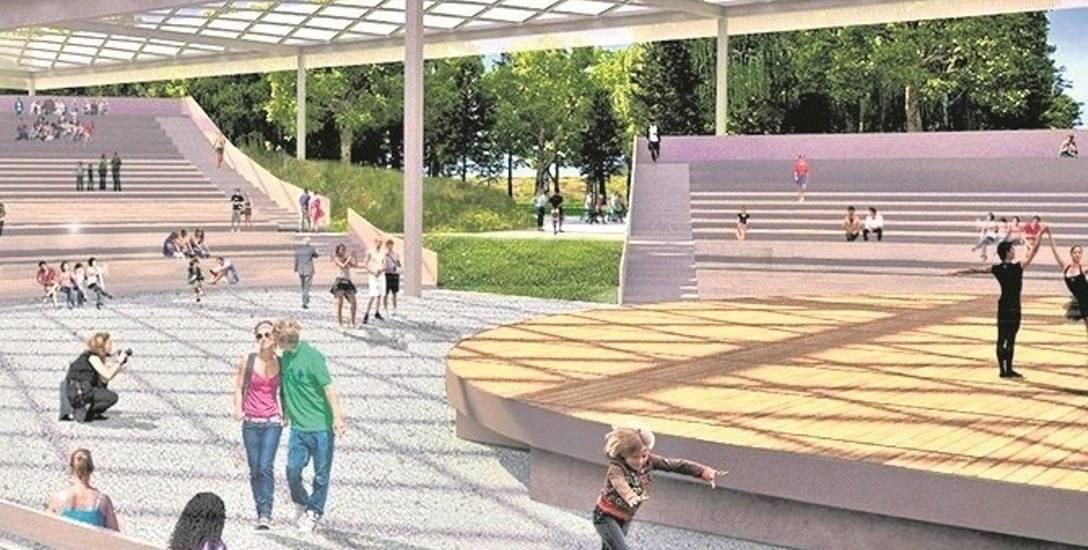 Amfiteatr pomieści 4 tys. widzów. - To więcej niż słynny obiekt w Opolu - mówi Wojciech Piech, zastępca prezydenta miasta