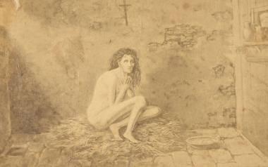 Imaginacyjny portret Barbary Ubryk w celi.