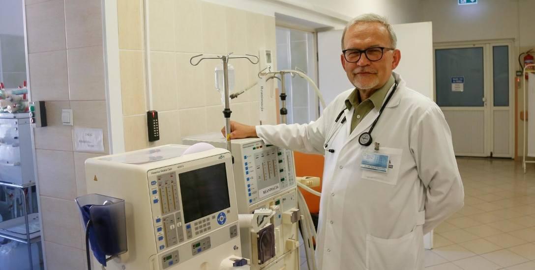 Dr n. med. Wacław Bentkowski, kierownik Kliniki Nefrologii i Stacji Dializ w KSW nr 1 w Rzeszowie