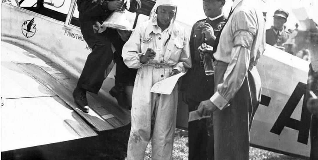 Jerzy Bajan na zawodach w 1932 roku