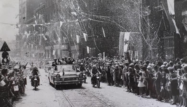 W 1964 roku Josip Broz Tito odwiedził Śląsk