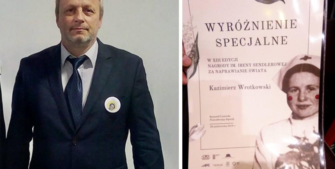 Kazimierz Wrotkowski uczy praktycznej nauki zawodu w Zespole Szkół Budowlanych w Bydgoszczy. Razem z młodzieżą naprawia świat i motywuje ją do działania