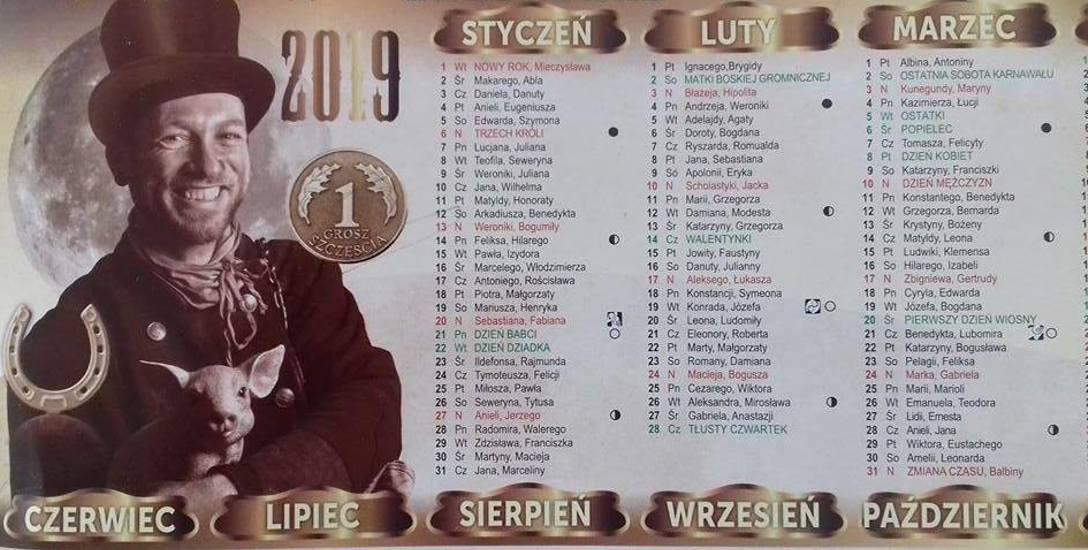 Taki kalendarz można było kupić w tym tygodniu w Bydgoszczy. Akwizytorzy w mundurach kominiarskich oferowali je m.in. na fordońskim Mariampolu.