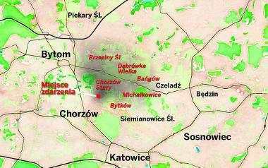 Chorzów, Siemianowice i Piekary. W tych miastach zalecano zamknięcie okien i pozostanie w domach