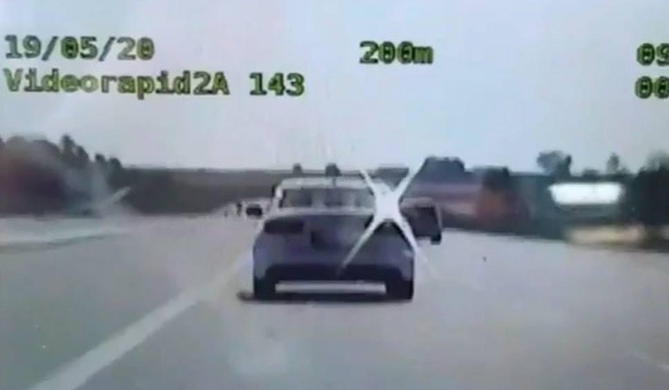 Film do artykułu: Szaleńcza jazda autostradą A4 w kierunku Rzeszowa zakończona mandatem i punktami karnymi [WIDEO]