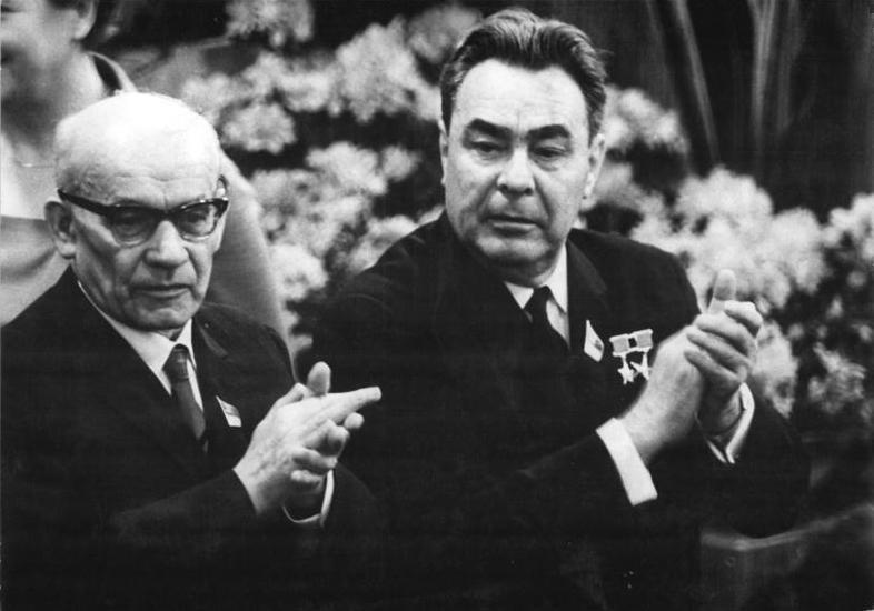 Gomułka i Leonid Breżniew, kwiecień 1967