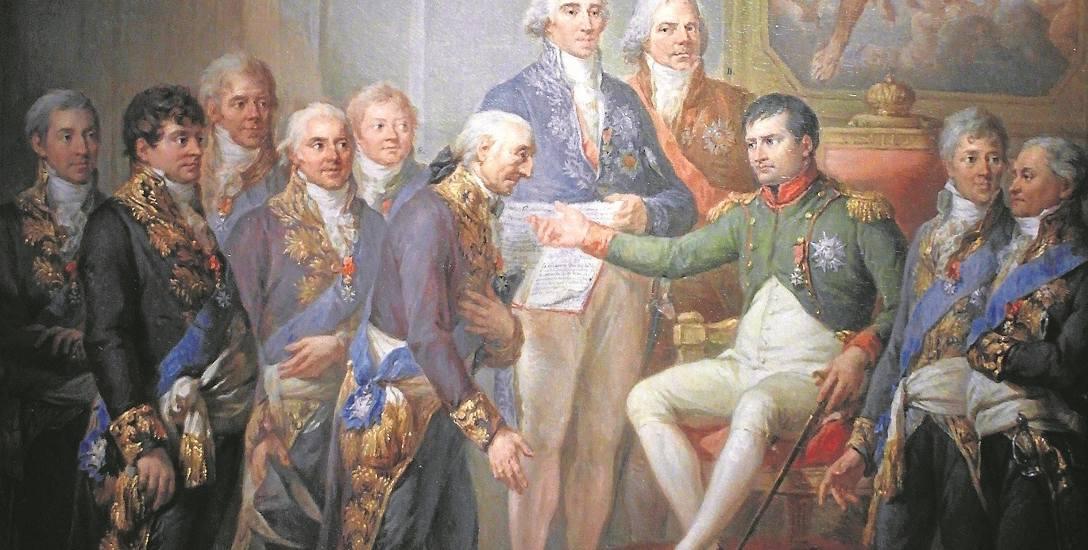 Marcello Bacciarelli, Nadanie konstytucji Księstwu Warszawskiemu przez Napoleona w 1807 roku, 1809-1811