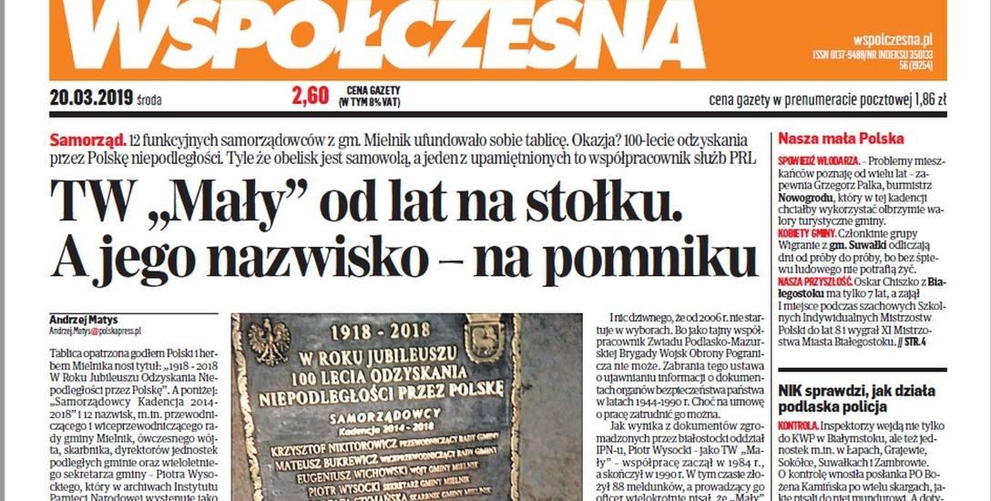 Gmina Mielnik. Za sprawą naszej publikacji w ciągu jednego dnia z Mielnika zniknął kontrowersyjny pomnik (zdjęcia)