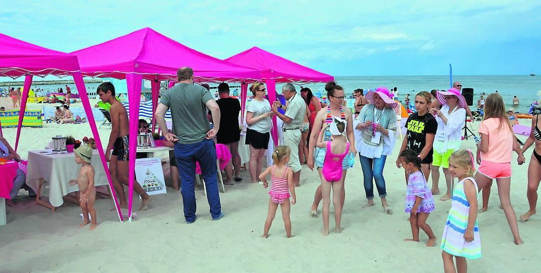 Różowa Plaża cieszyła się dużym zainteresowaniem. Uczestnikom nie przeszkadzała nawet niestabilność sobotniej pogody