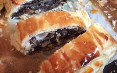 Szybka rolada makowa z ciasta francuskiego dla zapracowanych.