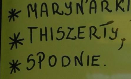 Polska języka być trudna! Zobacz jaki plakat można znaleźć w jednym z ostrołęckich sklepów