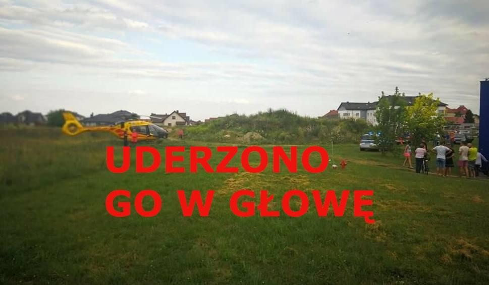 Film do artykułu: Policja i lotnicze pogotowie ratunkowe koło Tesco przy ul. Gorzowskiej w Kostrzynie. Co się stało? [ZDJĘCIA]