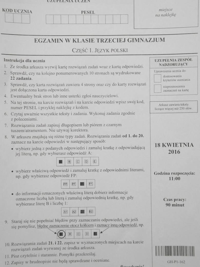 egzamin gimnazjalny 2021 polski odpowiedzi pdf