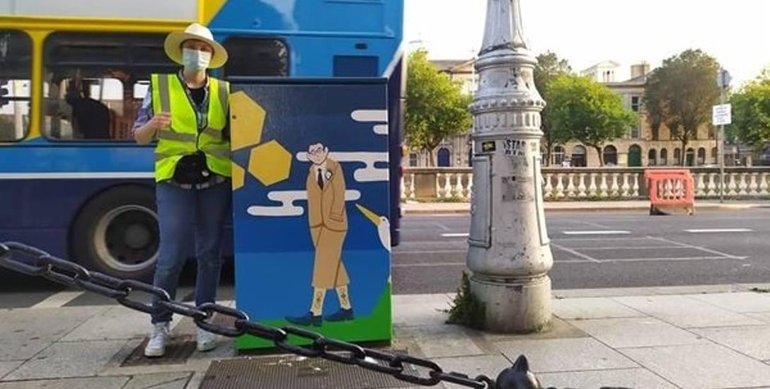 Gosia Żołądziejewska chciałaby, by skrzynki od sygnalizacji świetlnej w Zielonej Górze mogła pomalować tak, jak tę w Dublinie
