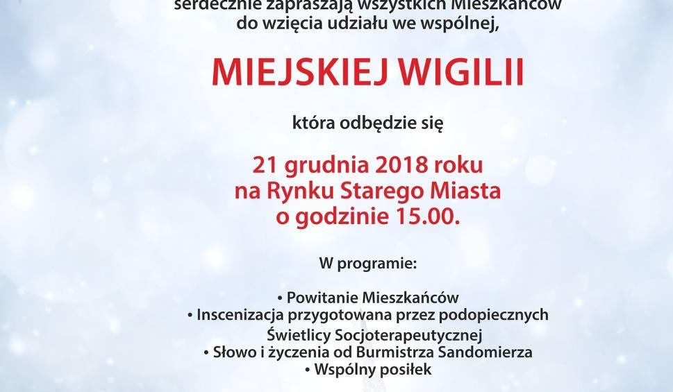 Film do artykułu: Miejska Wigilia na Rynku w Sandomierzu. Przyjdź na wspólne kolędowanie i ciepły posiłek