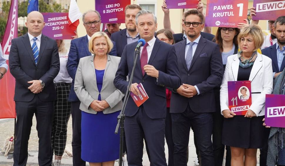 Film do artykułu: Wybory 2019. Czarzasty, Biedroń i Zandberg w Białymstoku: Przyjeżdżamy tutaj jak do domu (zdjęcia, wideo)