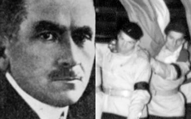 Roman Dmowski (1864-1939). Współzałożyciel Narodowej Demokracji (endecji), ideolog polskiego nacjonalizmu. Po prawej jego pogrzeb