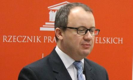 Adam Bodnar, rzecznik praw obywatelskich, na spotkaniu z mieszkańcami Brzegu.