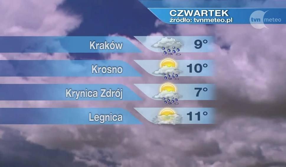 Film do artykułu: Pogoda na czwartek. W Małopolsce będzie deszczowo